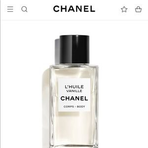 CHANEL l'huile vanille Body Massage Oil (NEW)